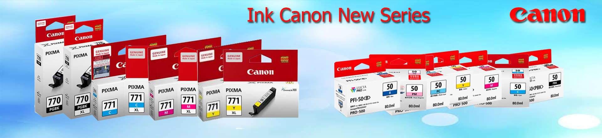All New Ink Canon